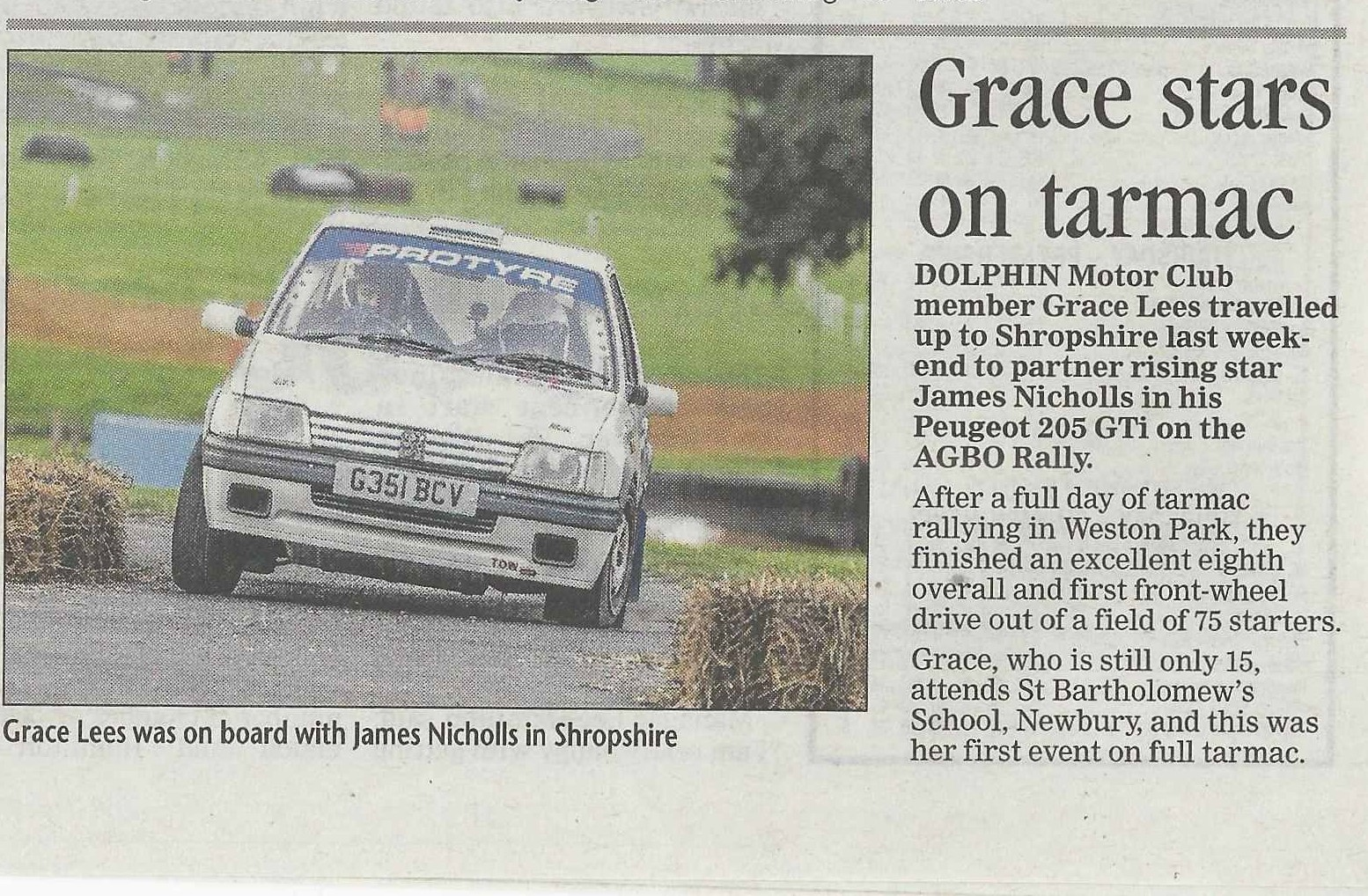 Grace Lees write up in Newbury Weekly News (002)